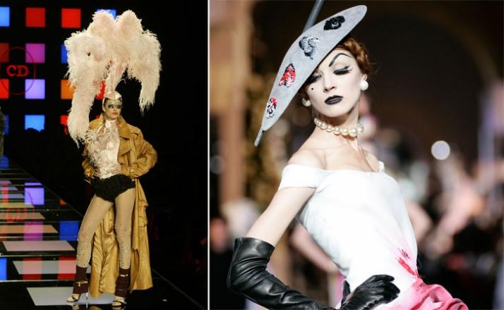 left // Christian Dior Couture - Autumn/Winter 2003-2004  (c) Photography: Etienne Tordoir/ Catwalkpictures.com right // Christian Dior Couture - Autu