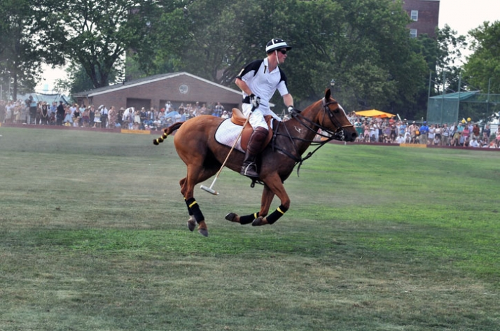 Prince   Harry in action // Image Courtesy of Veuve Clicquot