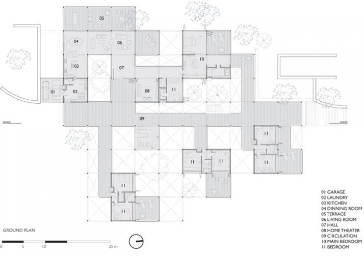 ground plan  (c) Forte, Gimenes & Marcondes Ferraz Arquitetos