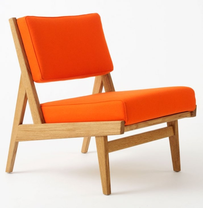"U 431 Low armless chair Oak with Kvadrat Divina fabric W 23"" D 28"" H 29"" W 584mm D 711mm H 737mm £1200 Photograph © Copyright Paul Tucker / Courtesy R"