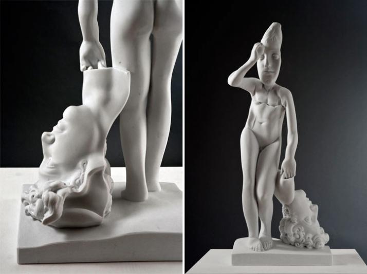 Marisa Diomè, 2010, marble, 41 x 99 x 23 cm Courtesy of Galleria Rubin (c) Affiliati Peducci/Savini, photo by Martino Gerosa