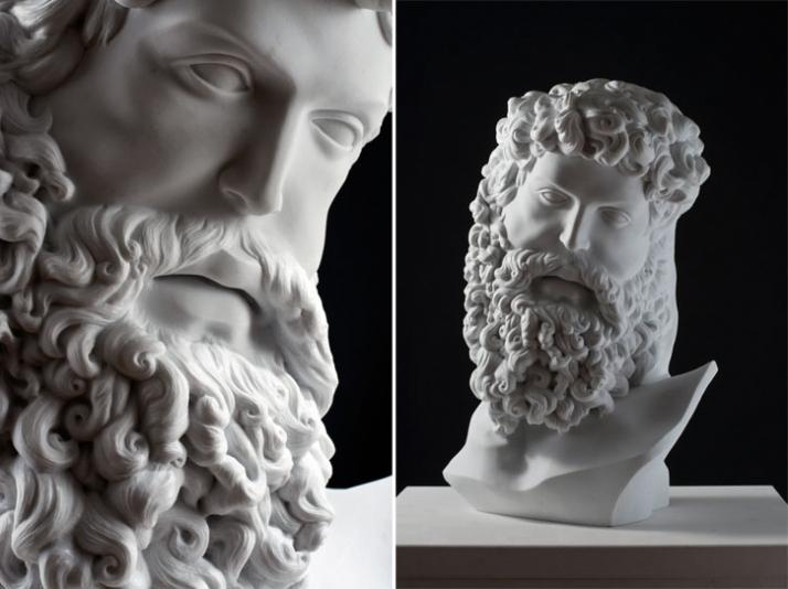 Fanon, 2010, marble, 38 x 62 x 28 cm Courtesy of Galleria Rubin (c) Affiliati Peducci/Savini, photo by Martino Gerosa