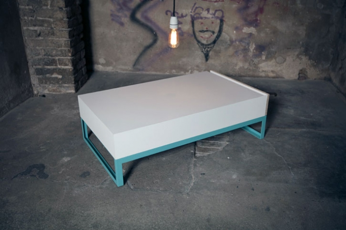Marcel - coffee table  310 × 1000 × 580 mm, powdercoated steel, chipboard  Image Courtesy of Frank Michels