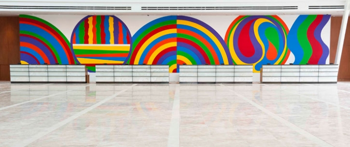 Sol Lewitt (1928-2007), Arcs, Circle and Irregular Bands, 1999. Courtesy of Marina Bay Sands