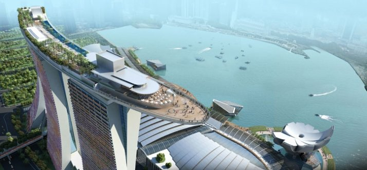 Render of Sands Skypark by Safdie Architects. Courtesy of Marina Bay Sands.