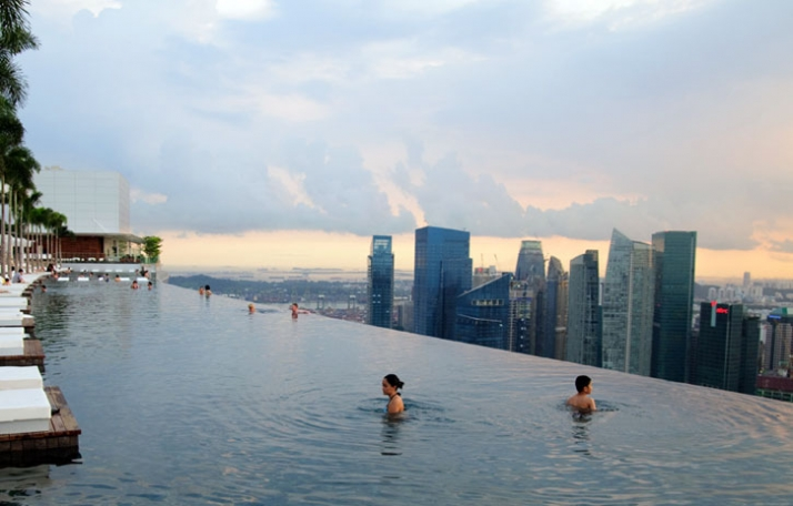 Marina bay wallpaper wide hd - Marina bay sands piscina ...