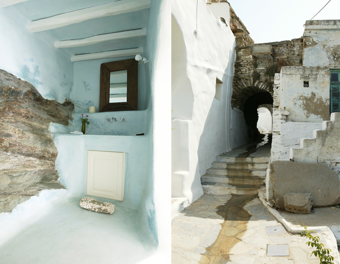 Private house in tinos yatzer for Greek interior design history