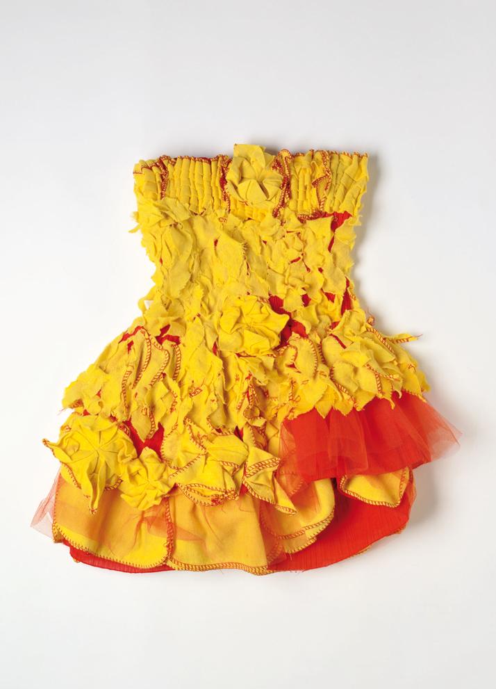 'Yellow Lotus Dress' by Luxumi Sridharan, photo by Richard Bowyer