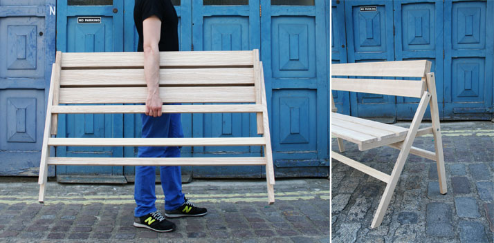 Folding Bench by Krystian Kowalski