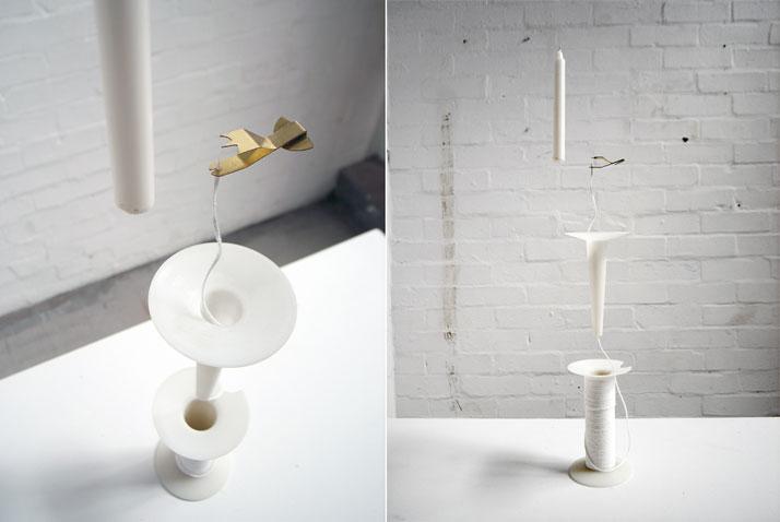 Bobbin Candlestick by Yuya Kurata