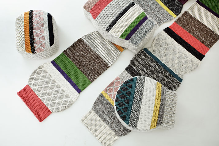 MANGAS puf by Patricia Urquiola for GAN-rugs
