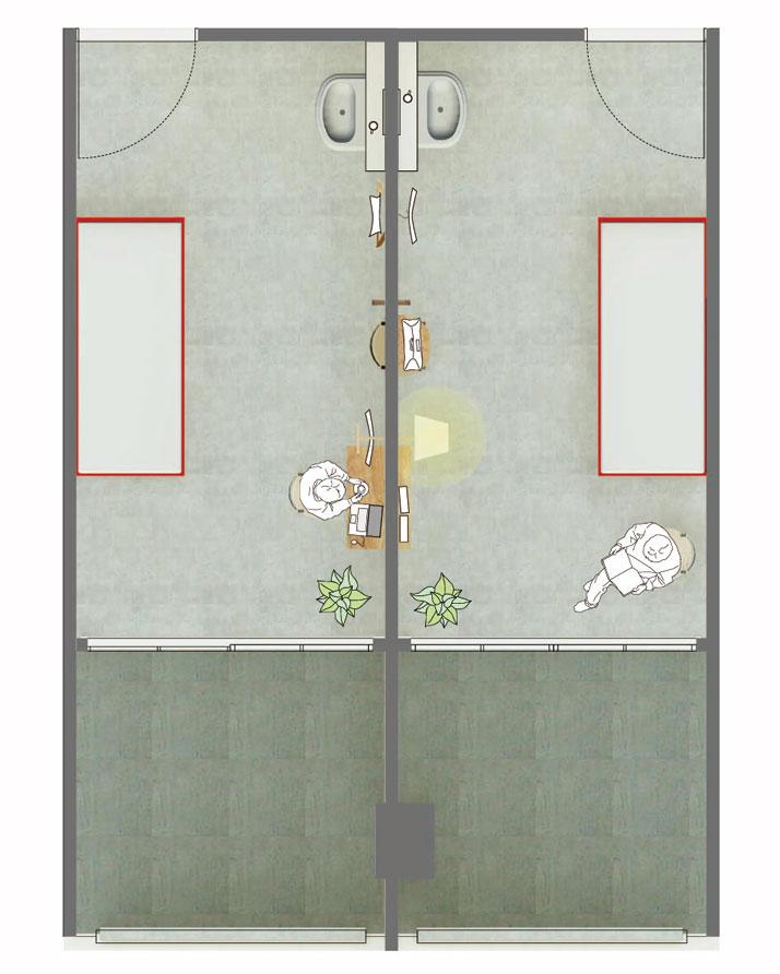 plan of Rooms 313-314