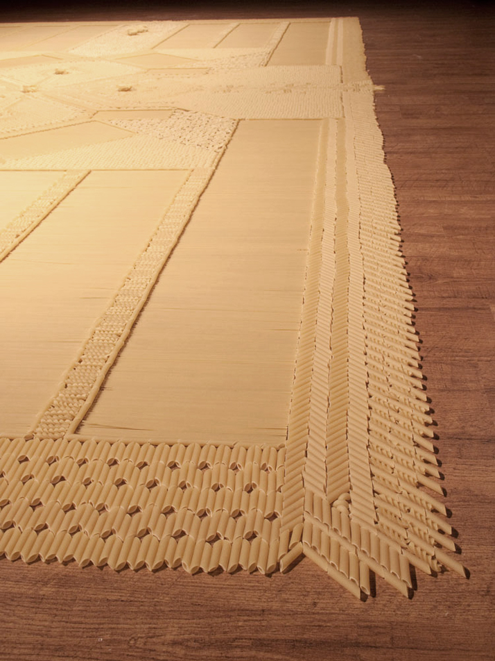 Pasta carpet // Image Courtesy of We Make Carpets