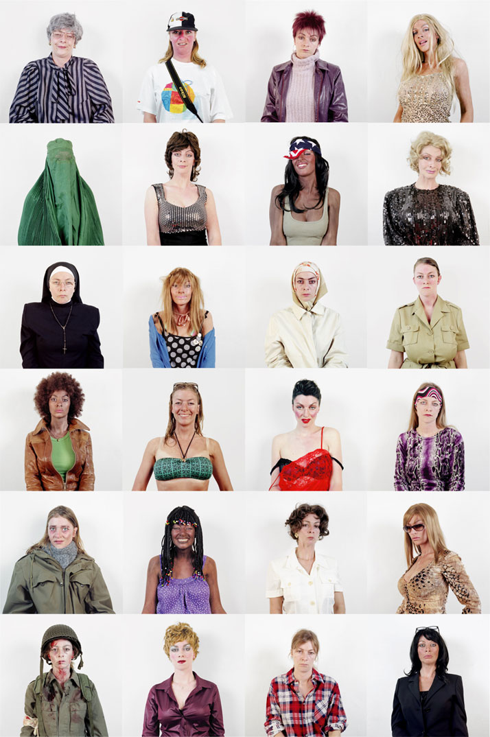 """The  Community, 2003-2005, an exploration into the female quest for   identity and self expression. Every aspect of our choices in hair, make   up, c"