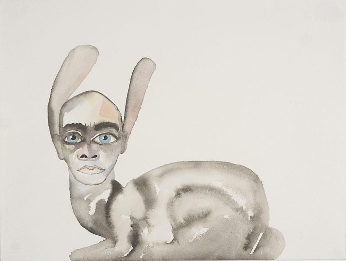 Francesco Clemente Selfportrait as a Hare 2005 Courtesy: Galleria Lorcan O'Neill Roma