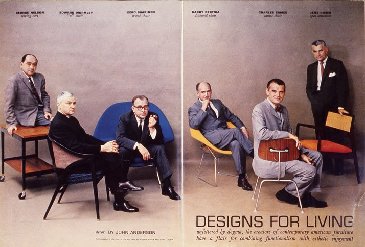 Playboy magazine's double-page spread for its article on contemporary designers  From The Story of Eames Furniture, Copyright Gestalten 2010