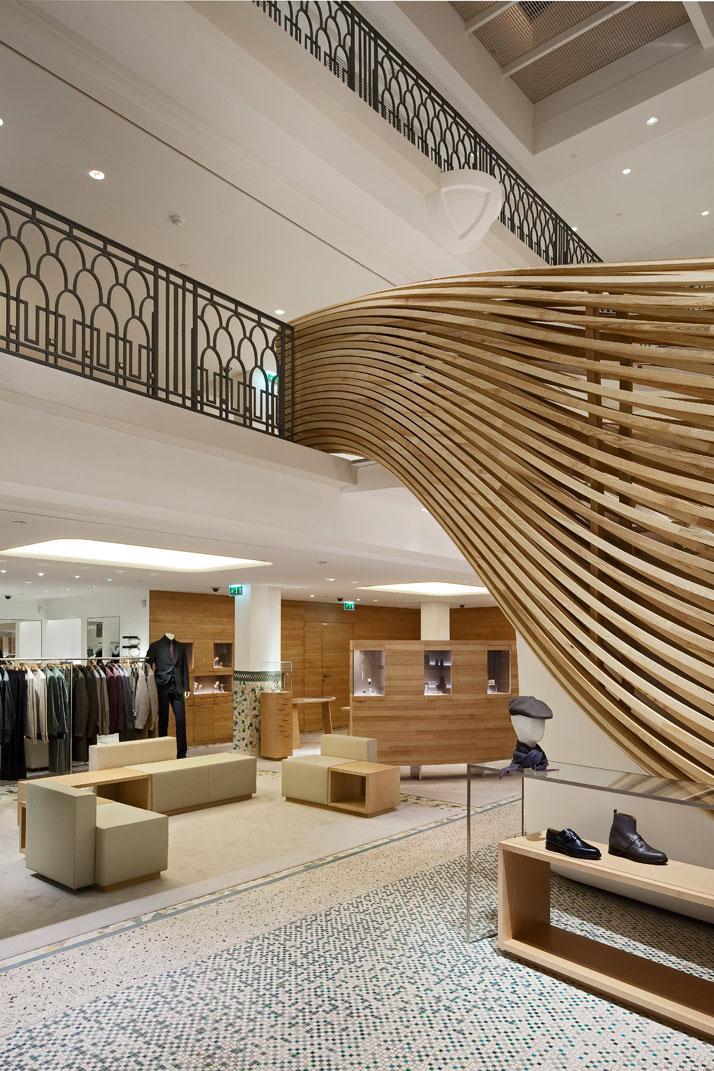 An elegant dive into herm s rive gauche by rdai yatzer for Interior design agency paris
