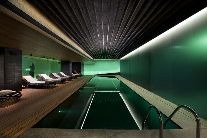 Spa-Indoor pool Image Courtesy of Mandarin Oriental Hotel Group photo © George Apostolidis