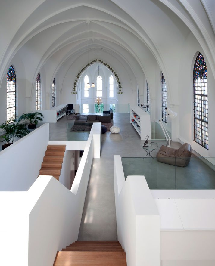 church conversion into a residence in utrecht by zecc yatzer. Black Bedroom Furniture Sets. Home Design Ideas