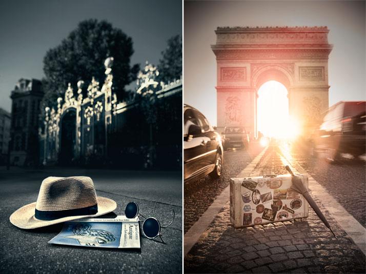 left: Paris - Le Parc Monceau, Crédits Photo : Dingo/LaSociétéAnonymeright: Paris - Les Champs Elysées, Crédits Photo : Dingo/LaSociétéAnonyme