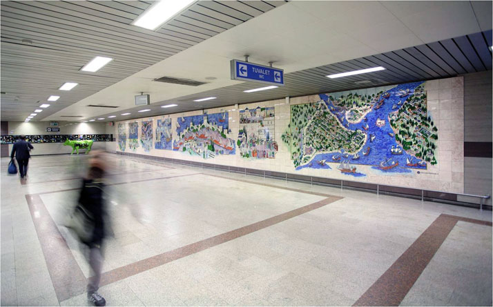 Tiles for a subway station in Istanbul photo © Iznik Foundation