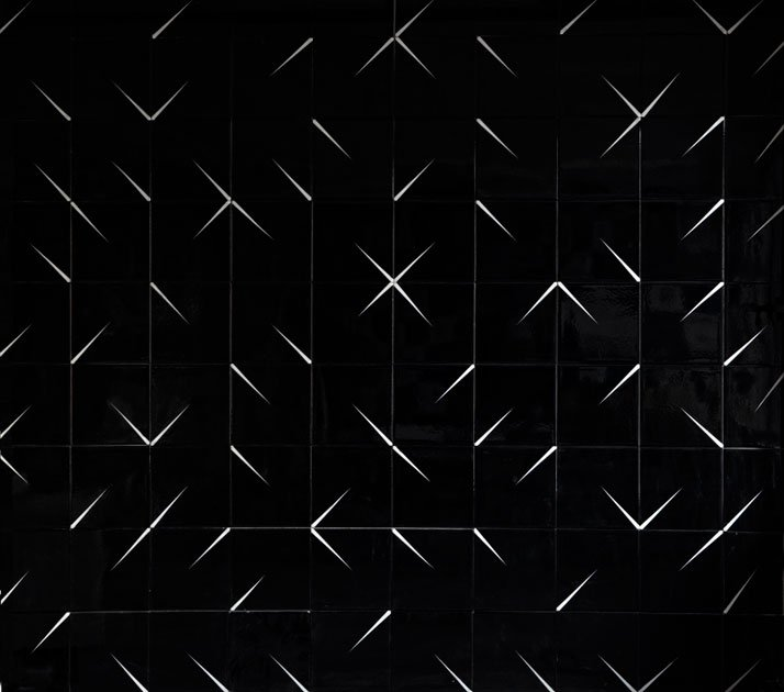 """Tile designed by Zaha Hadid for """"In tiles/Variations of iteration as a problem of surface"""" An exhibition curated by Nevzat Sayin in Hagia Sophia Museu"""