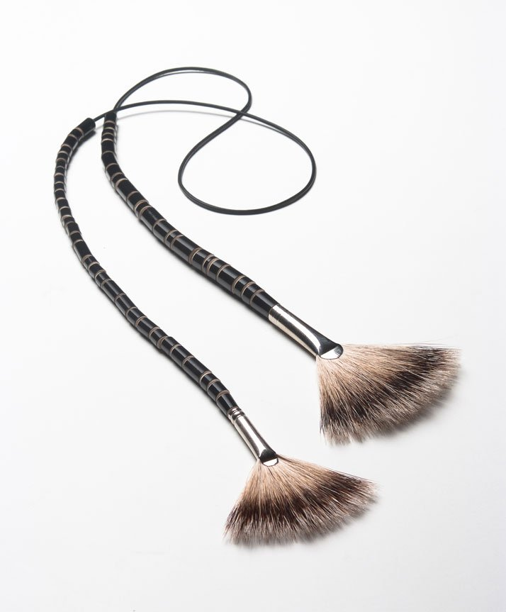 Necklace 2008 // paint brush and leatherphoto © Ole Eshuis