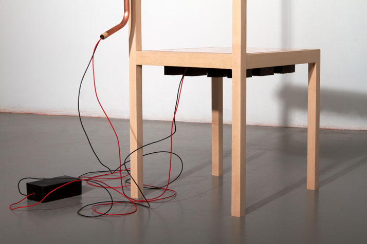 Chair and Lamp by Eddi TörnbergThe matter of symbiosisMeasurements // l 500 × w 700 × h 1000 mmphoto © Beckmans College of Design