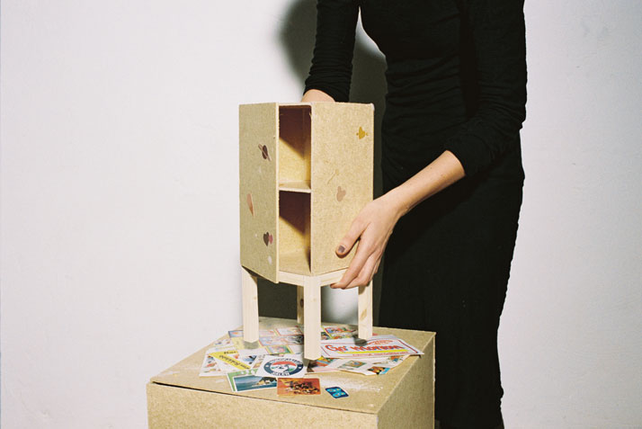 Cabinet by Julia SchollinThe matter of adding affectionMeasurements // l 350 × w 350 × h 900 mmphoto © Beckmans College of Design