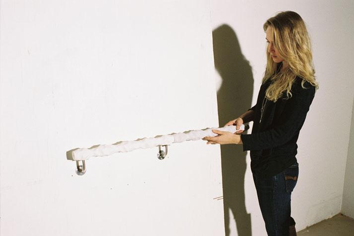 Handrail by Kaja SolgaardThe matter of physical contactMeasurements // Module 1/2/3l 500 mm ∅ 39–60 mm / l 220 mm ∅ 39–60 mm / l 100 mm ∅ 100 mmphoto