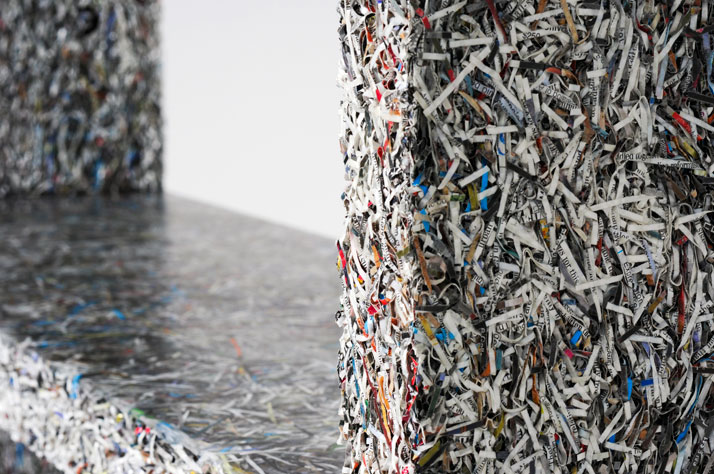 The Shredded Collection Console (detail)photo by Kaitey Whitehead © 2011, studio Jens Praet for Industry Gallery