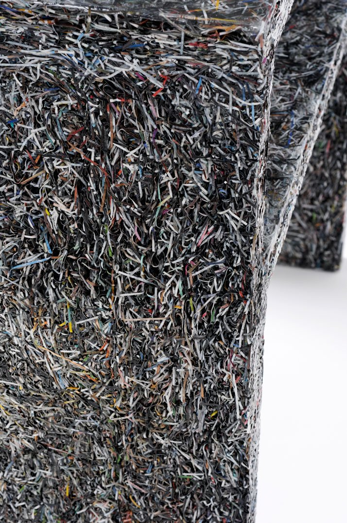 The Shredded Collection Sidetable (detail)photo by Kaitey Whitehead © 2011, studio Jens Praet for Industry Gallery