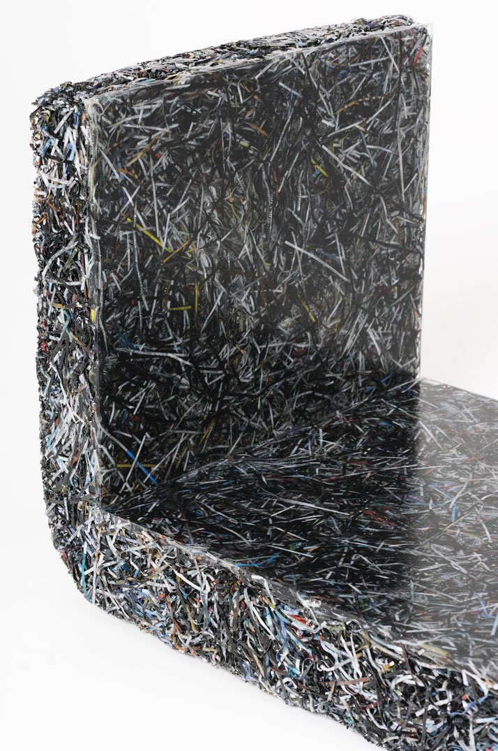 The Shredded Collection Shelf (detail) photo by Kaitey Whitehead © 2011, studio Jens Praet for Industry Gallery