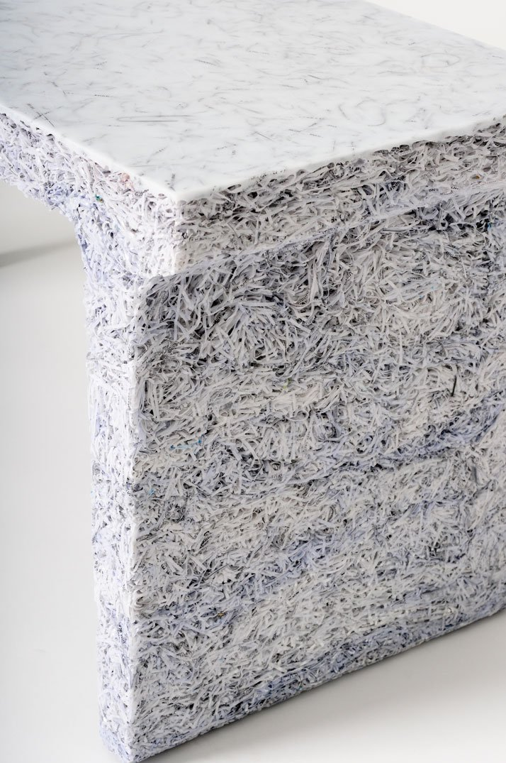The Shredded Collection Bench (White Edition), detailphoto by Kaitey Whitehead © 2011, studio Jens Praet for Industry Gallery