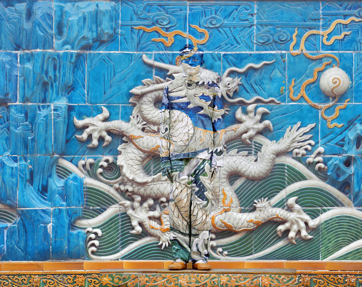 Hiding in the City - Dragon Series, No. 3 of 10 panels, 2010, © Liu Bolin Courtesy of Eli Klein Fine Art Gallery