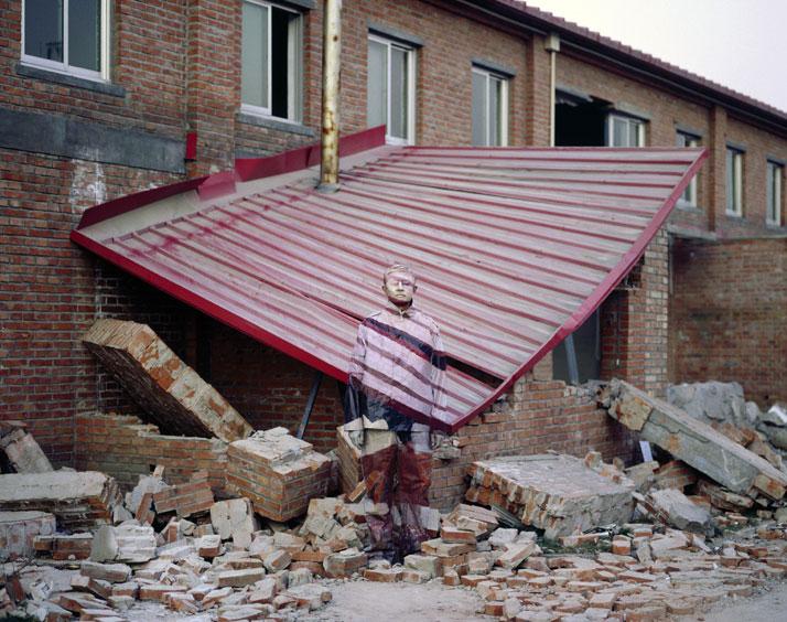 Hiding in the City No. 2- Suo Jia Village, 2005, © Liu Bolin Courtesy of Eli Klein Fine Art Gallery