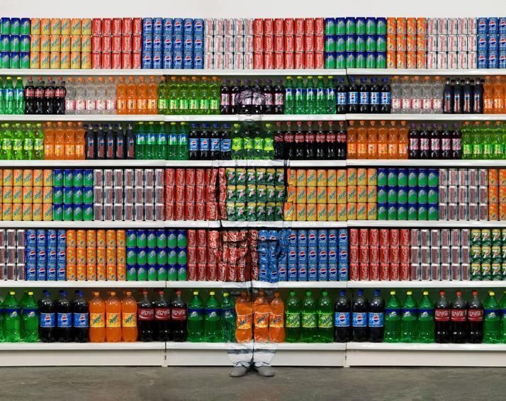 Hiding in the City No. 93- Supermarket No. 2, 2010, © Liu BolinCourtesy of Eli Klein Fine Art Gallery