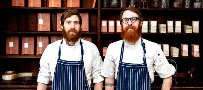 photo © Mindy BestMichael Mast and Rick Mast of Mast Brothers Chocolate