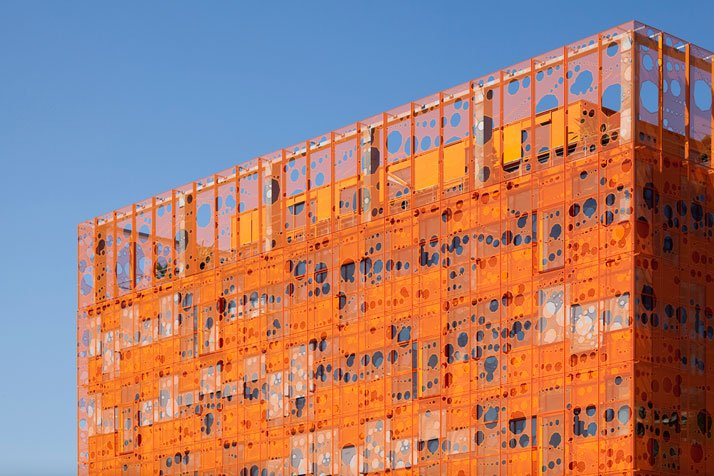The orange cube by jakob macfarlane architects yatzer for Architecture lyon