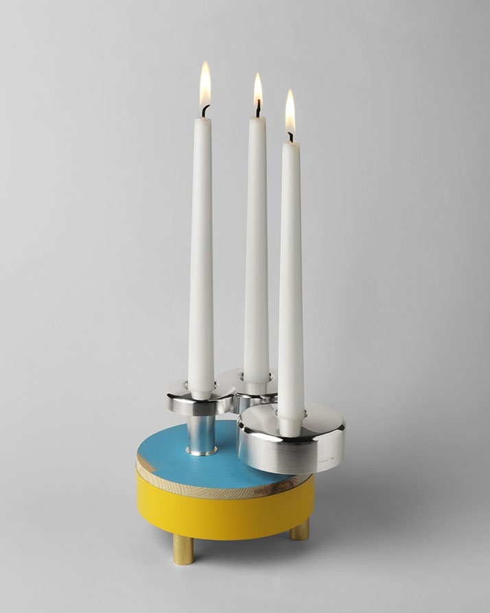 David Taylor , Candlestick Edition: DotsThis bespoke candlestick edition comprises 3 pieces made to work together as a group or to cooperate when used