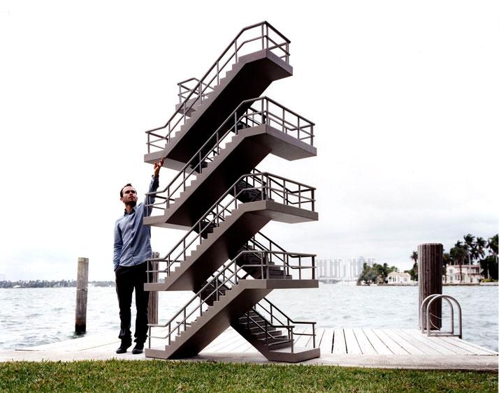 Daniel ARSHAMOpen Staircase2006Mousse et résine epoxy, PVC / Epoxy foam, PVC, epoxy resin335 x 106 x 86 cm / 110 x 57 x 33 1/2 inchesCourtesy Galerie