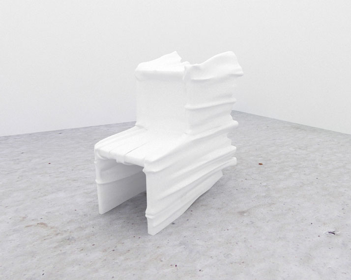 SNARKITECTUREGhost Chair2010Polystyrène, plâtre, laque /EPS foam, plaster, lacquer121,9 x 81,3 x 96,5 cm / 48 x 32 x 38 inchesCourtesy Galerie Perroti