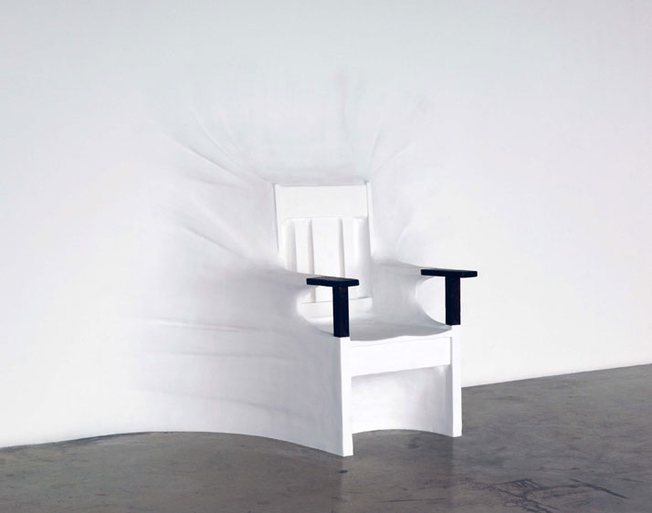 Daniel ARSHAMChair2007Chaise de 1890, contre-plaqué, plâtre, peinture, polystyrène / 1890's mission chair, joint compound,plywood, EPS foam, plaster g