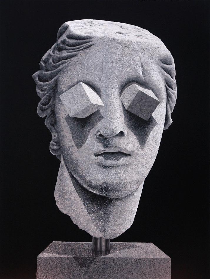 Daniel ARSHAMEyes2010Gouache sur papier calque, encadrement / Gouache on mylar, frame233,5 x 187 x 5 cm / 7.7 feet x 6.1 feet x 2 inchesCourtesy Galer