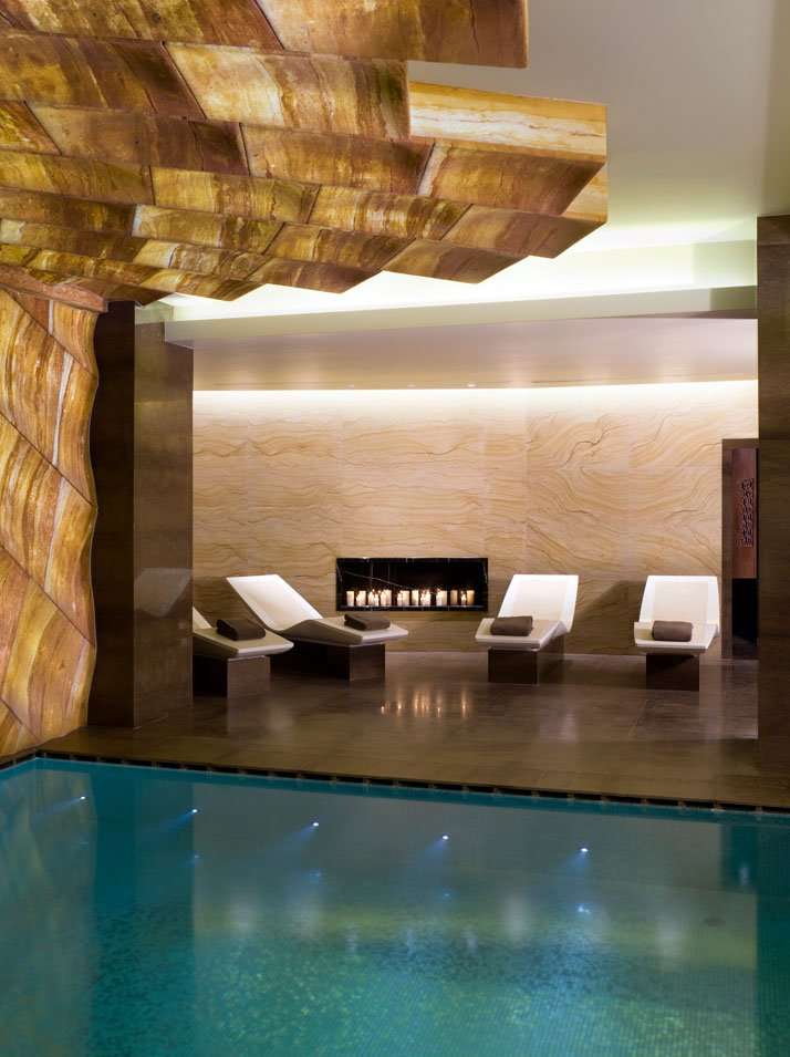 Pool Heated Chaise Lounges //  // Image Courtesy of ESPA, Istanbul EDITION Hotel
