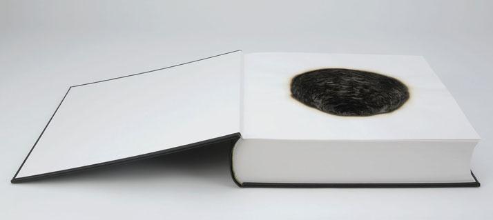 FUME (2007)  © Kate MccGwireHandmade book, burnt38 x 80 x 13 cmPhoto © Tessa Angus