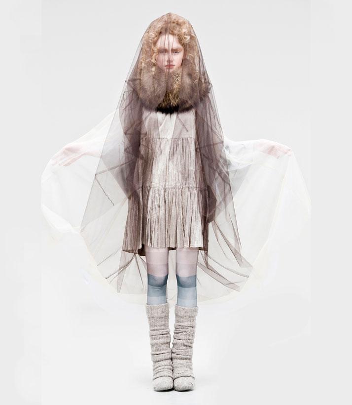 Fur Collar and Cape: Spaksmannsspjarir / Dress: Farmers Market / Tights: KronKronphoto by  Gunnar Þór NilsenCopyright © 2011, Fatahönnunarfélag Ísland