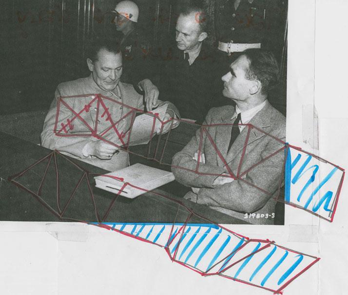 sketch >> Hermann Göring, Rudolf Heß, Karl Dönitz // Nuremberg Trials Courtesy of Tino Seubert