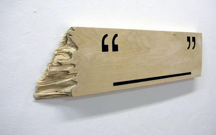 Untitled. wood, paint. 2009 //  © Dexter Dymoke
