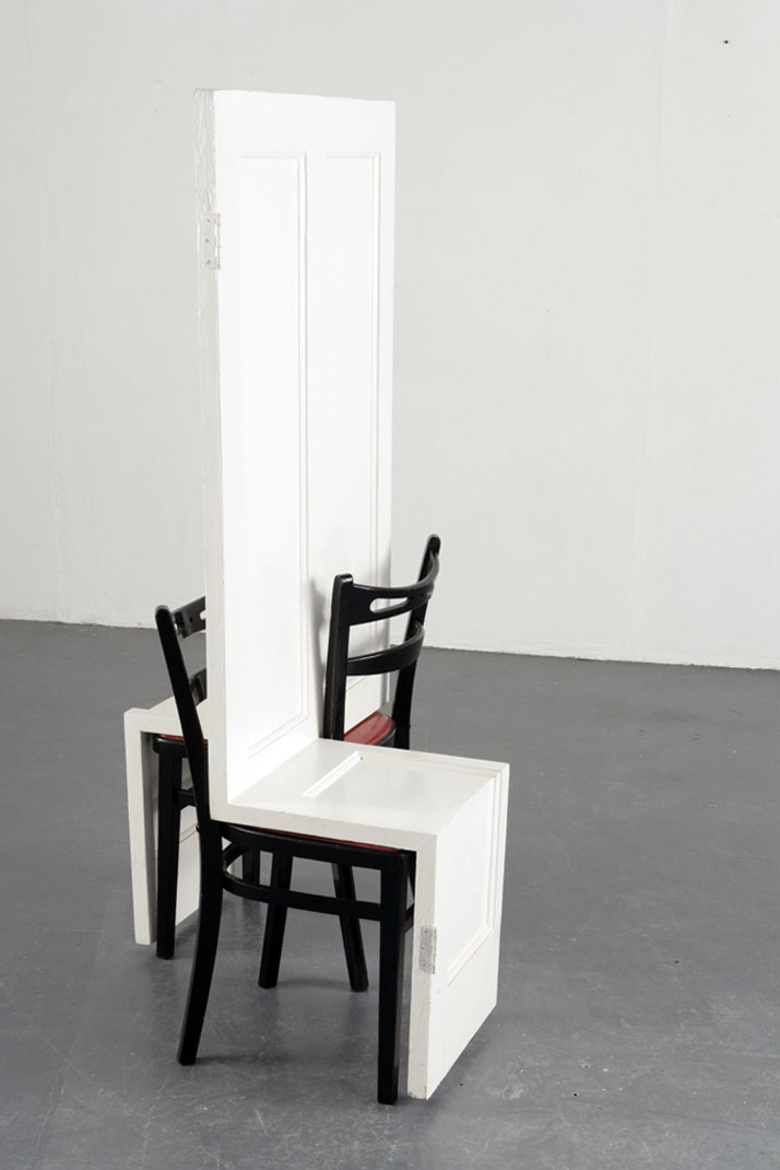 Loveseat. Door, chairs, paint. 2007  //  © Dexter Dymoke